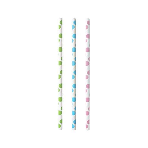 "Trinkhalme aus Papier, farbig sortiert ""Dots"""