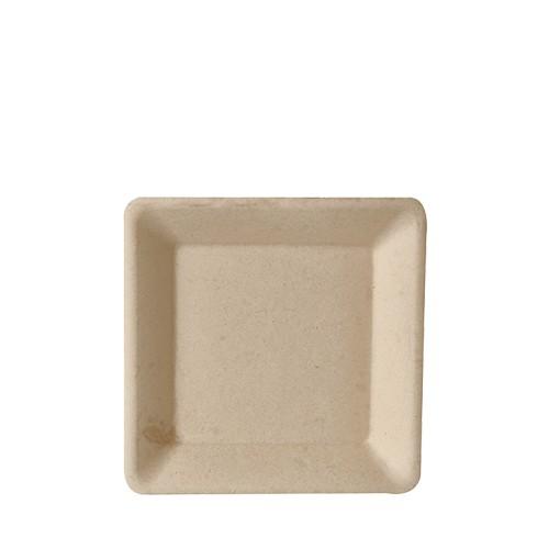 Teller aus Zuckerrohr natur 15,5 cm x 15,5 cm