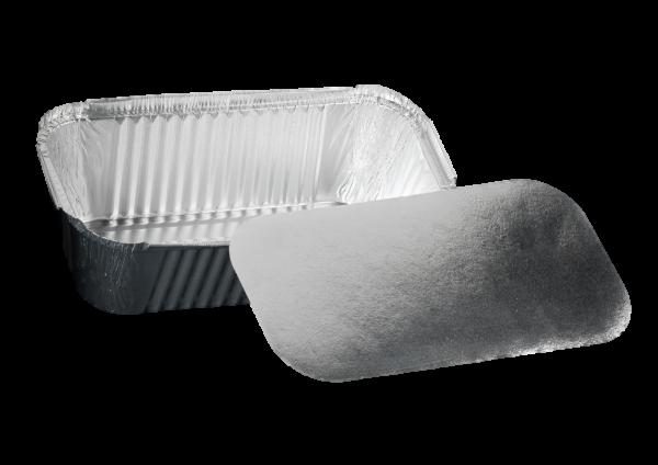Alu-Rechteckschale mit Deckel