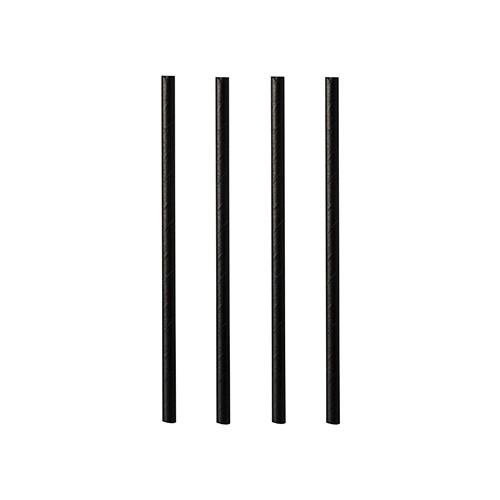 Trinkhalme aus Papier, schwarz