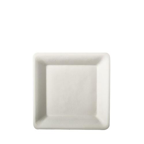 Teller aus Zuckerrohr 15,5 cm x 15,5 cm