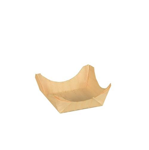 Fingerfood eckige Schale aus Holz