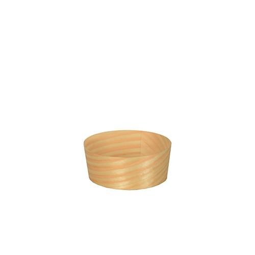 Fingerfood runde Schale aus Holz