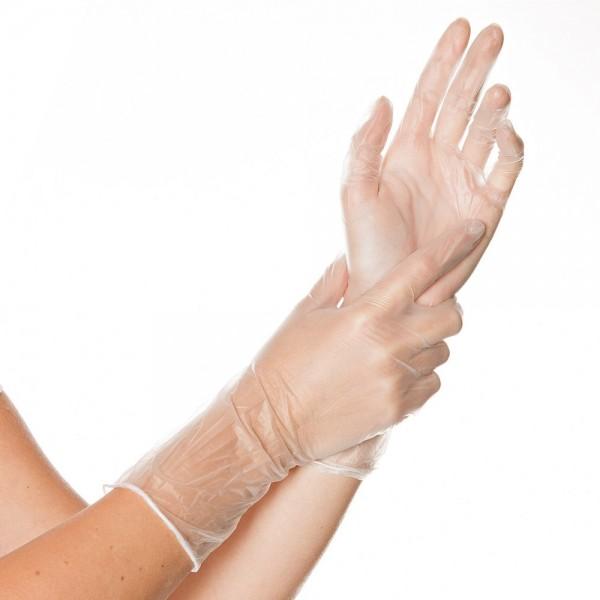 """Vinyl-Handschuhe """"Ideal Long"""" puderfrei"""