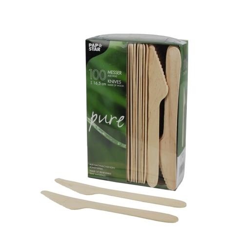 Messer, Holzmesser, Holzbesteck, Einwegbesteck, Einwegmesser, Besteck aus Holz