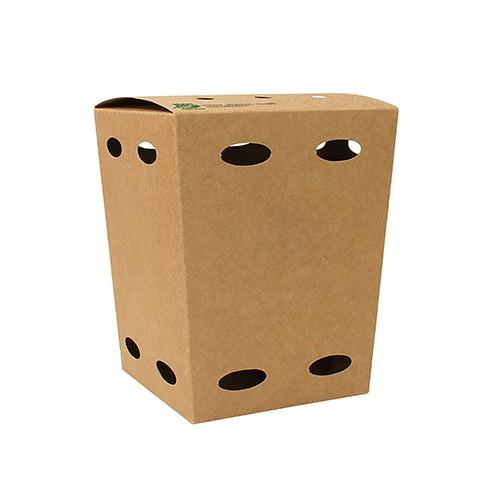 """Food Boxen mit Luftlöcher aus Pappe """"100% Fair"""""""