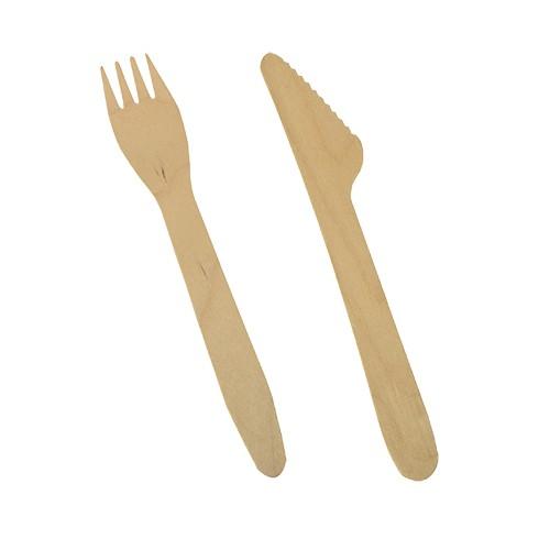 Messer, Gabel, Holzmesser, Holzgabel, Einwegmesser, Einweggabel, Einweggeschirr, Holzbesteck, Besteck, Bio Messer, Bio Gabel, Bio Besteck