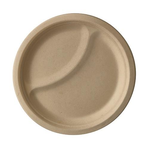 Teller, Einwegteller, Bio Teller, Natur Teller, Zuckerrohr Teller, Einweggeschirr, Ovaler Teller, Bio