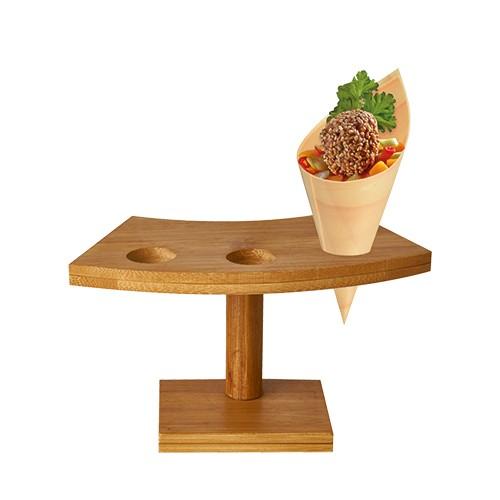 Spitztüten Tray, Halter aus Bambus, Bambushalter, Dekorativer-Halter, Hoz-Spitztüten, Imbiss, Gastronomie, Fingerfood,