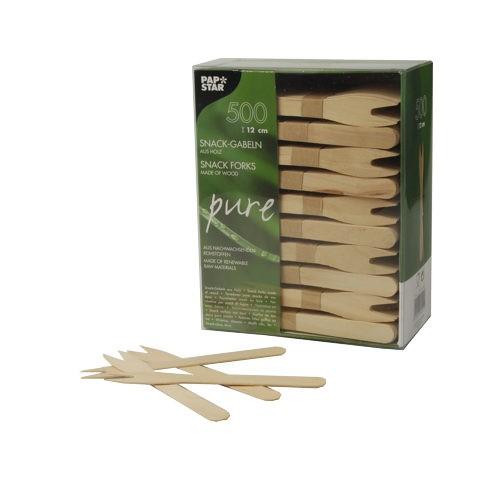 Snack Gabeln aus Holz