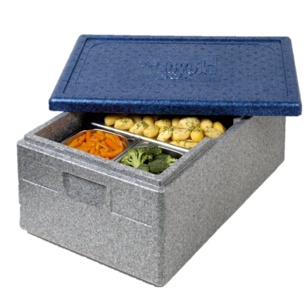 "Thermobox GN 1/1 ""PREMIUM"" grau / blau"