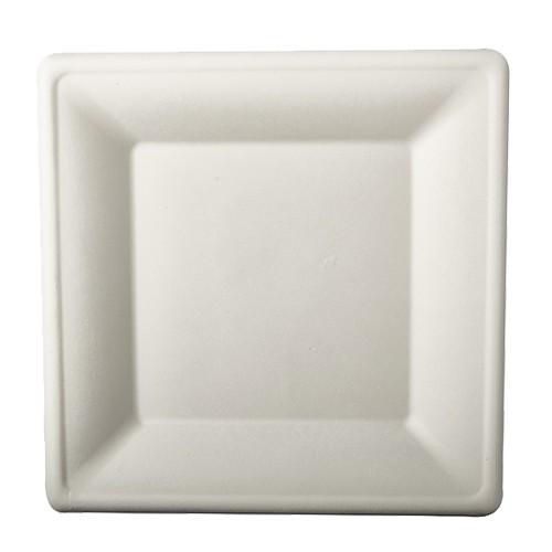 Teller aus Zuckerrohr 26 cm x 26 cm