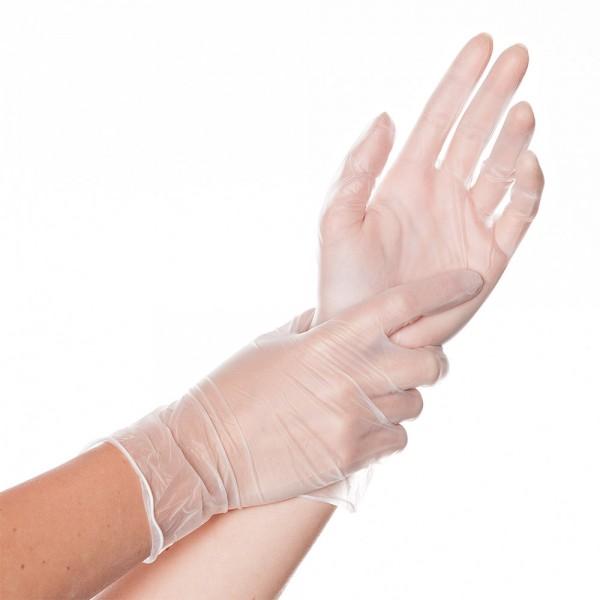 """Vinyl-Handschuhe """"Classic Light"""" gepudert"""